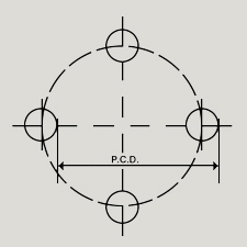 4 Stud PCD Diagram
